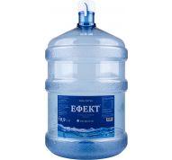 """Вода ТМ """"ЕФЕКТ"""" артезіанська оброблена негазована 19л."""
